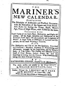 Pdf The Mariner's New Calendar ... The whole revised and adjusted to the new-stile. By William Mountaine ... To this edition is added, The Compleat Irish Coaster. MS. notes