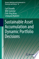 Sustainable Asset Accumulation and Dynamic Portfolio Decisions Book