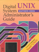 Digital UNIX System Administrator s Guide