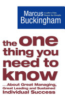 The One Thing You Need to Know ebook