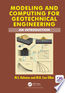 Modeling and Computing for Geotechnical Engineering Book