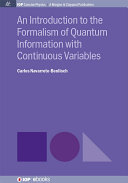 Pdf An Introduction to the Formalism of Quantum Information with Continuous Variables Telecharger