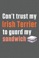 Can t Trust My Irish Terrier to Guard My Sandwich