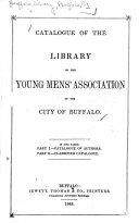Catalogue of the Library of the Young Mens      Association of the City of Buffalo