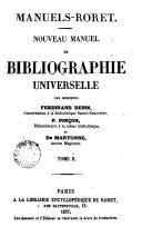 Nouvean Manuel de Bibligraphie Universelle, 2