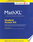 MathXL Student Access Kit