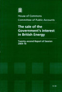 The sale of the Government's interest in British Energy