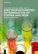 Spectrophotometric Determination of Copper and Iron
