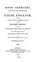 Exercises  Instructive and Entertaining  in False English