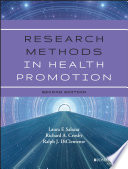 Research Methods in Health Promotion Book