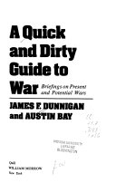 A Quick And Dirty Guide To War Book