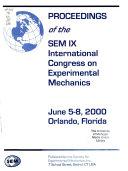 Proceedings Of The Sem Ix International Congress On Experimental Mechanics Book PDF