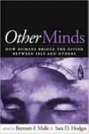 Pdf Other Minds