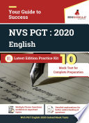 NVS PGT English 2020   10 Mock Test   Sectional Test Book