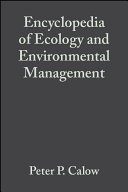 Encyclopedia of Ecology and Environmental Management [Pdf/ePub] eBook