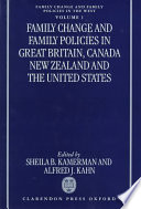 Family Change And Family Policies In Great Britain Canada New Zealand And The United States