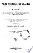 Army Appropriation Bill