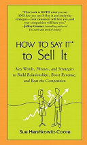 How to Say It to Sell It Pdf/ePub eBook