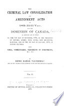 The Criminal Law Consolidation and Amendment Acts of 1869  32 33 Vict   for the Dominion of Canada