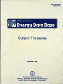 Energy Information Data Base
