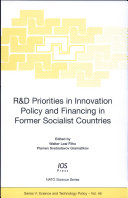 R D Priorities in Innovation Policy and Financing in Former Socialist Countries