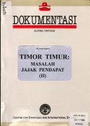 Kliping Tentang Timor Timur