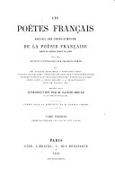 Les poëtes français