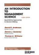 An Introduction to Management Science