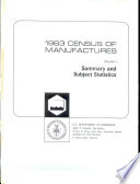 1963 Census of Manufactures Book