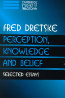 Perception  Knowledge and Belief