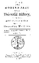 An Universal History, from the Earliest Account of Time