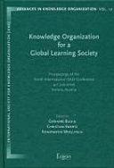 Knowledge Organization For A Global Learning Society Book PDF