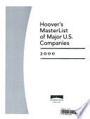 Hoover's Masterlist of Major U.S. Companies, 2000