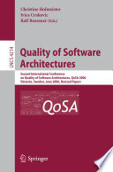Quality of Software Architectures