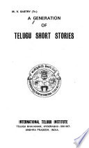 A Generation of Telugu Short Stories