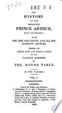 The History Of The Renowned Prince Arthur