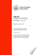 2017 Cfr Annual Print Title 40 Protection Of Environment Part 60 60 1 To 60 499