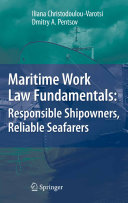 Pdf Maritime Work Law Fundamentals: Responsible Shipowners, Reliable Seafarers Telecharger