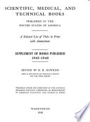 Scientific, Medical, and Technical Books Published in the United States of America, 1930-1944