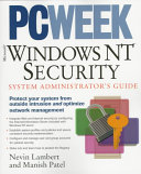 Pc Week Microsoft Windows Nt Security Book PDF
