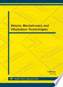 Vehicle, Mechatronics and Information Technologies