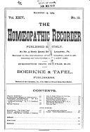 The Hom  opathic Recorder