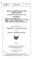 Title 10  United States Code  Subtitle A  General military law  pts  III and IV   sections  2001 3000