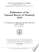 Publications Of The National Institute Of Standards And Technology     Catalog