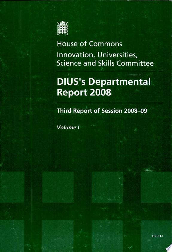 DIUS's Departmental Report 2008