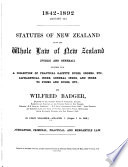 Statutes of New Zealand  1842 1893  Book