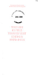 Trends in the Transport Sector
