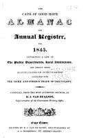 The Cape of Good Hope Almanac and Annual Register