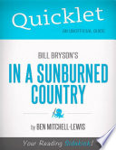 Quicklet on Bill Bryson s In a Sunburned Country  CliffNotes like Summary  Book