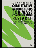 Pdf A Handbook of Qualitative Methodologies for Mass Communication Research Telecharger